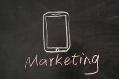 Mobil marknadsföring Arkivbilder
