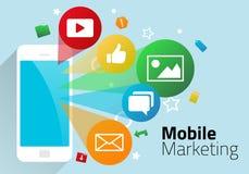 Mobil marknadsföring Stock Illustrationer