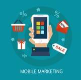 Mobil marknadsföringsbegreppskonst Royaltyfri Foto