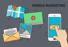 Mobil marknadsföringsdesign Stock Illustrationer