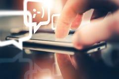 Mobil Messaging och prata Royaltyfri Foto