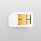 Mobil mobiltelefon Sim Card Chip för vektor vektor illustrationer