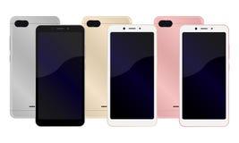 mobil modern ny telefon royaltyfri illustrationer