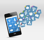 mobil modern telefon vektor illustrationer
