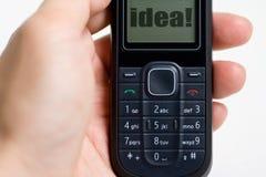 mobil modern telefon för cell Arkivbild