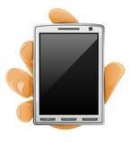 mobil modern telefon för hand Vektor Illustrationer