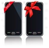 mobil modern touch två för telefonbandskärm royaltyfri illustrationer