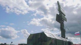 Mobil navigering och GPS system för att använda under militära insatser stock video