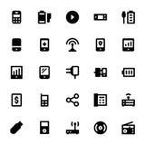 Mobil och Smart apparater 5 Arkivfoto