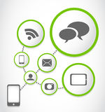 Mobil phone applications process group Stock Image