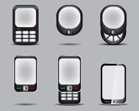 Mobil Phone Set 3. Vector Drawing Stock Illustration