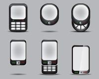 Mobil Phone Set 3. Vector Drawing Stock Photos