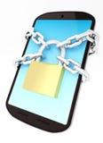 Mobil säkerhet Arkivfoto