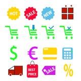 Mobil shoppingillustration stock illustrationer