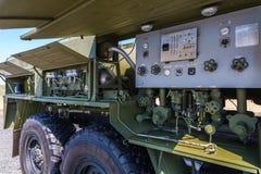 Mobil station ARS-14 KM för sanering och desinficering av rustningen, special utrustning och territoriet Arkivfoto