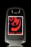 mobil stylized telefonskärm Arkivbild