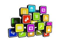 Mobil teknologi Fotografering för Bildbyråer