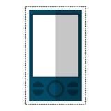 mobil teknologikommunikation för blå smartphone stock illustrationer