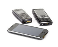 mobil telefon tre Royaltyfri Foto