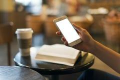 Mobil telefona na mão fotos de stock royalty free
