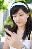 mobil telefonkvinna arkivfoto