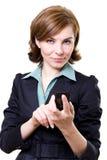 mobil telefonkvinna för affär Royaltyfria Bilder