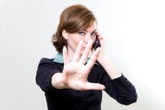 mobil telefonkvinna för affär Royaltyfri Bild