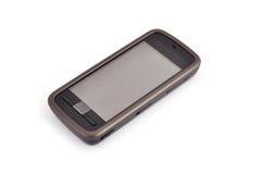 mobil telefonpekskärm royaltyfria bilder
