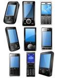mobil telefonset för icone Arkivfoton
