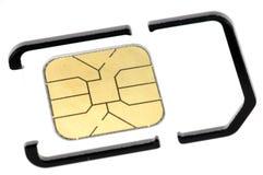 mobil telefonsim för kort Royaltyfria Foton