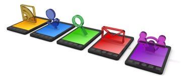 mobil telefonsmartphone Arkivfoton