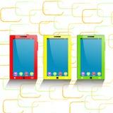 mobil telefontablet för dator Fotografering för Bildbyråer