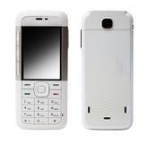 mobil telefonwhite Arkivbild
