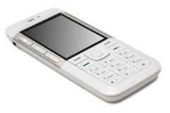 mobil telefonwhite Royaltyfria Foton
