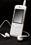 mobil telefonwhite Arkivbilder