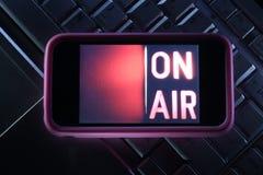 mobil television Royaltyfria Bilder