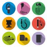 Mobil tillbehör för telefon stock illustrationer