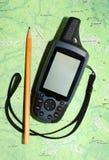 mobil trevlig mottagare för gps royaltyfri bild