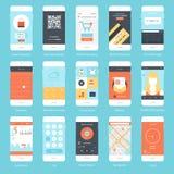 Mobil UI Arkivfoto