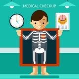 Mobil vård- mHealth, diagnos och övervakning av vektor illustrationer