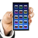 Mobila apps Royaltyfri Foto