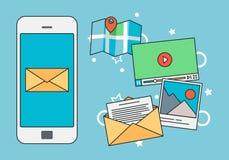Mobila apps på smartphonen Arkivbilder