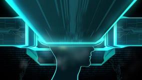 Mobila apps som installeras in i hjärnan som byter ut meningen, medvetenhet, sömlös ögla stock video
