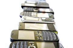 mobila gammala telefoner Royaltyfri Fotografi