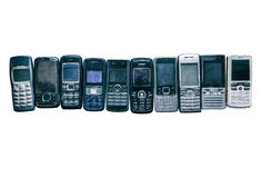 mobila gammala telefoner Royaltyfria Foton