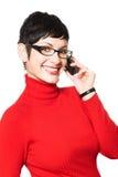 mobila sekreteraresamtal Royaltyfria Bilder