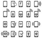 mobila symboler Royaltyfri Fotografi