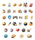 mobila symboler Stock Illustrationer