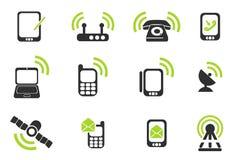mobila symboler Arkivbild