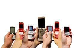 mobila telefoner Arkivbild